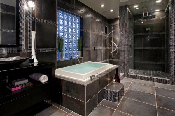 Elegantna crna kupatila luxury montenegro for Interior dizajn