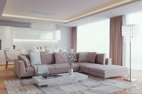 Enterijer dnevne sobe luxury montenegro for Enterier dizajn