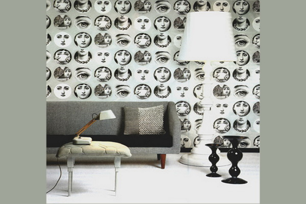 fornasetti tapete luxury montenegro. Black Bedroom Furniture Sets. Home Design Ideas